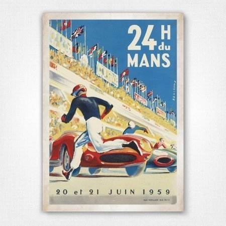1959 Le Mans 24 Hour Race Motor Racing Poster  A3 Print