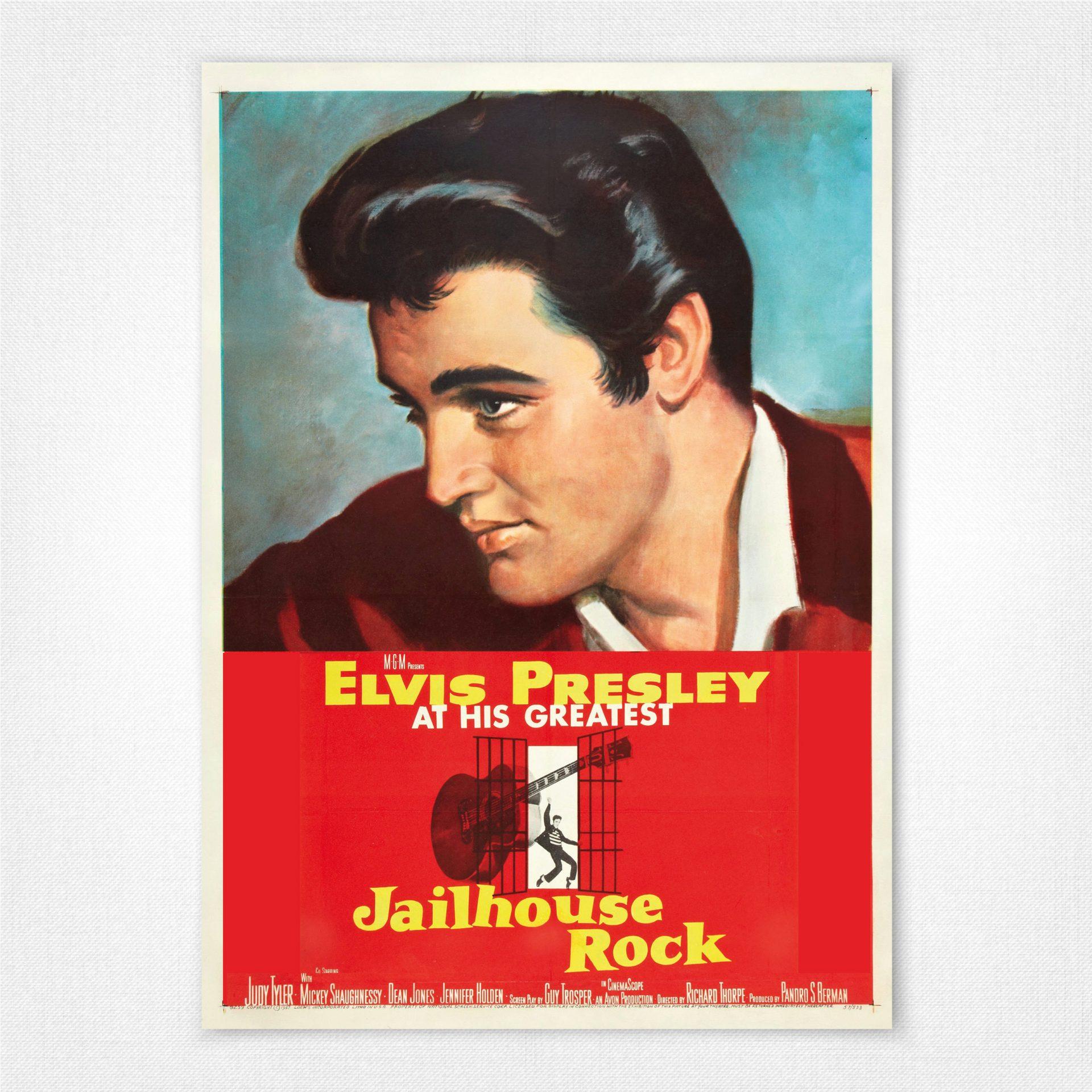 Vintage Movie Poster Reproduction Jailhouse Rock Elvis Presley M.G.M