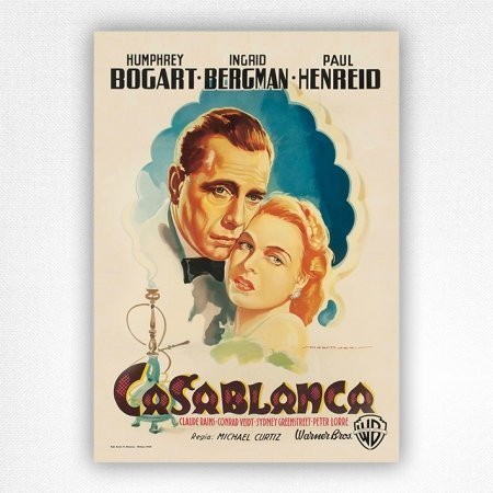 Italian Casablanc movie poster