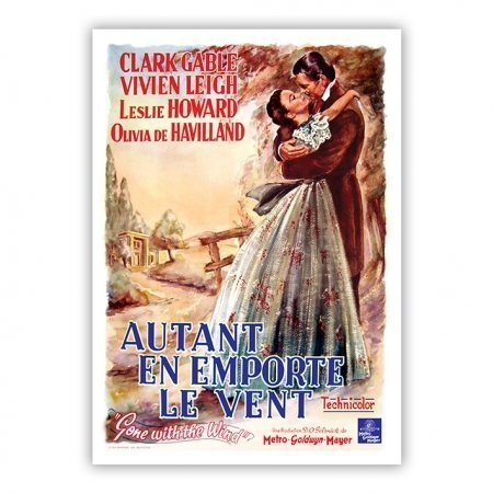 Belgian Gone With The Wind Poster